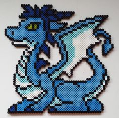 Week 1, Day 3, Fav Animal, Dragon Perler Bead 365 Day Challenge