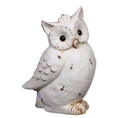 Bring a dash of springtime charm to your end table, console, or dresser with this lovely piece of d�cor.   Product: Owl statuette