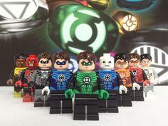 The Lantern Corps Custom Minifigures Legos, Lego Custom Minifigures, Dc Comics, Lego Pictures, Lego Craft, Lego Man, All Lego, Lego Room, Joker Art