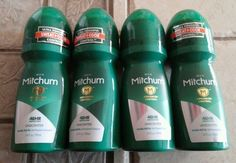 Mitchum Men Advanced Control Unscented Invisible 48Hr Roll-on 3.4 fl oz (4 pack) #Mitchum