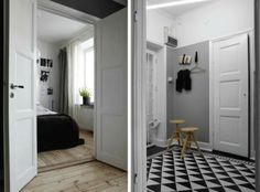 Note to self: make a rug with that triangle pattern for the doorway :)