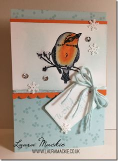 Stampin' Up! It's a Robin Thing.  So yesterdays post i shared my bluetit using the bird from A Happy Thing stamp set, well today he's a Robin!