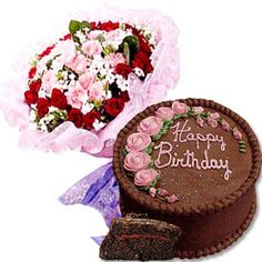 Celebrate Your Loved Ones Birthday With This Combo Of Kg Chocolate Cake Along 15 Fresh Seasonal Flowers Bunch At INR Giftsnflowers