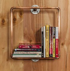 Copper Pipe Cube Book Shelf von NomadGeneralStore auf Etsy