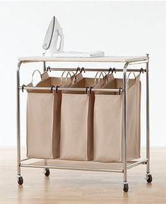 Neatfreak Hampers, Everfresh Laundry Triple Sorter with Ironing Board - Cleaning & Organizing