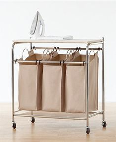 Neatfreak Hampers, Everfresh Laundry Triple Sorter with Ironing Board - Cleaning & Organizing