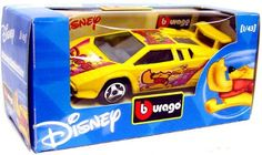 Disney Burago 1/43 Scale Diecast Car Pooh [Yellow Paint Job]
