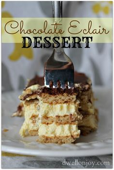 Chocolate Eclair Dessert: so easy, even I can make it!!
