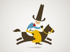 Cowboy character, on horse  by Carlos Fernandez