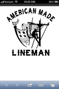 American Made Lineman Vinyl Decal at Lineman Barn Lineman Love, Power Lineman, Vinyl Crafts, Vinyl Projects, Lineman Tattoo, Electrical Lineman, Journeyman Lineman, Wood Burning Stencils, Forts