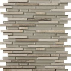 Found it at Wayfair - Lucente Random Sized Glass and Stone Mosaic Tile in Certos Linear