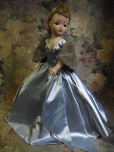 Cissy Doll in 1956 Satin Ball Gown #2041 All Original & Complete