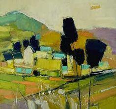 Nacido en Bretaña en 1960, Hervé Lenouvel siempre ha sido un apasionado de la pintura y el dibujo. Su infancia se desarrolla en el cam... Landscape Artwork, Abstract Landscape Painting, Abstract Canvas, Herve, Mountain Paintings, Artist Art, Art Sketches, Fine Art, Poster