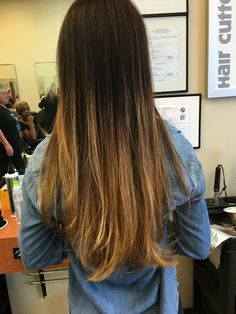 Melt or ambre hair by Shaylie at Marty's place Sleek Hairstyles, Straight Hairstyles, Ambre Hair, Black Ombre, Shiny Hair, Hair Looks, Hair Cuts, Long Hair Styles, Hair Ideas