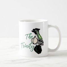The Trinity Bell Pepper Celery Onion. Coffee Mug Custom Office Retirement #office #retirement