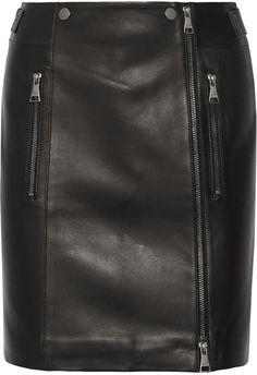 Karl Lagerfeld - Leather Mini Skirt - Black