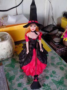 Herthal art's:  Boneca bruxinha vermelha em e.v.a