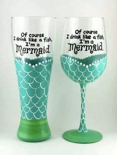 Mermaid Wine/Beer Glasses