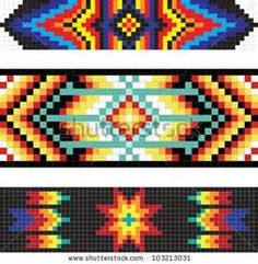 Find Traditional Native American Pattern Vector Illustration stock images in HD and millions of other royalty-free stock photos, illustrations and vectors in the Shutterstock collection. Indian Beadwork, Native Beadwork, Native American Beadwork, Seed Bead Patterns, Peyote Patterns, Weaving Patterns, Art Patterns, Native American Patterns, Native American Crafts