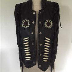 """Selling this """"Hot Leathers Vintage Fringe Vest Medium large"""" in my Poshmark closet! My username is: novasma. #shopmycloset #poshmark #fashion #shopping #style #forsale #Hot Leathers #Jackets & Blazers"""