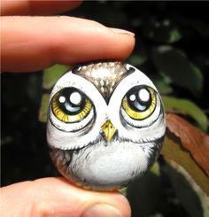 Owl pet rock by thestoneteller