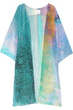 Athena Procopiou Apeiron silk crepe de chine kimono NET-A-PORTER.COM. for lounging with a sangria in hand