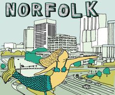 Norfolk, VA in Virginia (Mermaid Selfies)