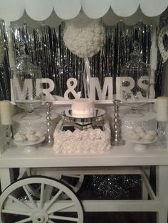 red black and white candy table see more candy cart