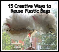 Ways to reuse recycle plastic bags. Reuse Plastic Bags, Fused Plastic, Paper Bag Flooring, Dik Dik, Reuse Recycle, Reduce Reuse, Creative Crafts, Creative Ideas, Recycled Crafts