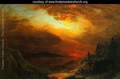 Twilight Mount Desert Island, Maine - Frederic Edwin Church - www.fredericedwinchurch.org