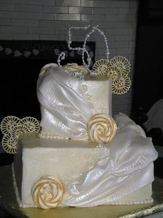 50th Anniversary Cake 2 by EB Cakes, via Flickr