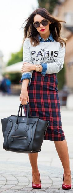 plaid chic.