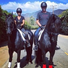 Our first trail ride with our Friesians! Who loves horses? #WarHorse #Equestrian #ScottYancey