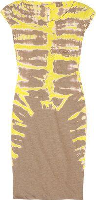 ShopStyle: Raquel Allegra Tie-dyed cotton-blend jersey dress