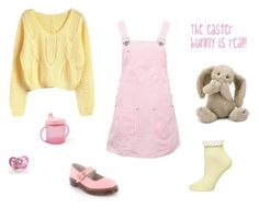 """""""Easter themed little girl"""" by hannahmcnuggets ❤ liked on Polyvore featuring Dorothy Perkins, Versace and Jellycat"""