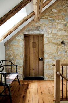 Wonderful stone house with wood floors, rustic architectural details