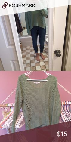 Sweater Is kind of a dull green color, very comfortable. Listed UO for exposure Urban Outfitters Sweaters