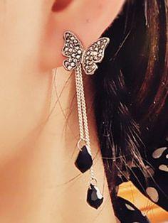 Black Butterfly fall Earrings
