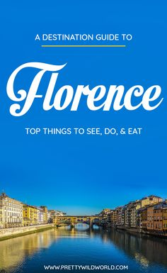 Planning a trip to the beautiful city of Florence, a lovely city in Italy? Check out this first-timer's guide to Florence that includes all the top things to do in Florence, places to go in Florence, places to see in Florence, what to see in Florence, and places to stay in Florence. Save this Florence travel guide in your travel board so you'll find it later! #florence #italy #europe #travel #travelblog