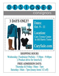 Designer Consignors Fall & Winter Consignment Sale & Giveaway! - Cary, NC