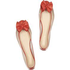 Paul & Joe Mambo Leather And Mesh Ballerina Flats found on Polyvore..summer fun flats