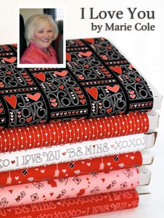 Henry Glass Fabrics I Love You by Marie Cole