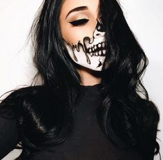 Imagen de Halloween, girl, and makeup