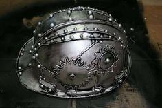 DIY Steampunk Helmet - use hot glue and paint