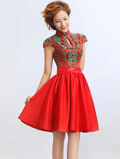 Short Flare Qipao / Cheongsam / Chinese Wedding / Evening Dress style, shape and design of the garment