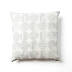 Striped Circles with Waves Reverse Pillow - Rebecca Atwood - $225.00 - domino.com