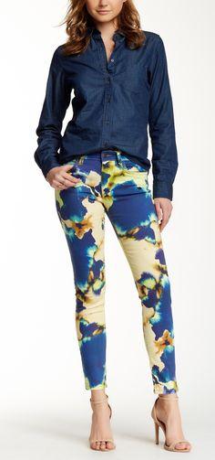 Fab printed skinny jeans.