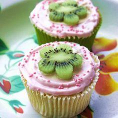 Kwark, kiwi & strawberries   Cupcakerecepten.nl