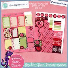 Her Cute Dress Printable Planner Stickers by Digital Gator Designs #pdw #plaindigitalwrapper #digitalscrapbook #scrapbook #digitalkit #planner #printable #stickers #digitalgator