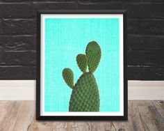 Succulent Print Colourful Wall Art Cactus Art by TrendingArtPrints